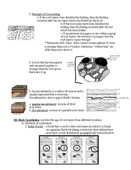 Regents Earth Science:Earth's Geologic History Review Sheet