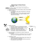 Regents Earth Science:Meteorology & Climate Review Sheet