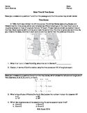 Worksheet - Solar Time & Time Zones (Editable)