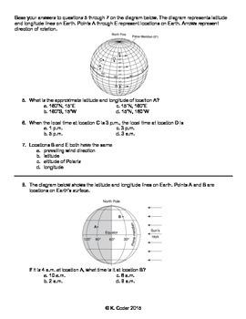 Worksheet - Solar Time & Time Zones (Editable)