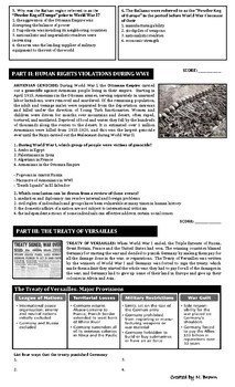 Global Regents Review Pack: World Wars
