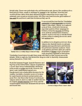Calypso: Trinidad's Captivating National Art – A Mini Curriculum