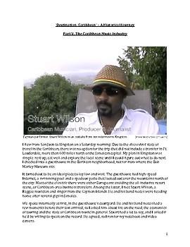 The Caribbean Music Industry – 'Destination: Caribbean' Learning Bundle #5