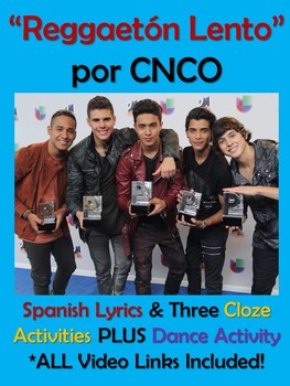 Reggaeton Lento Spanish Song Activities CNCO