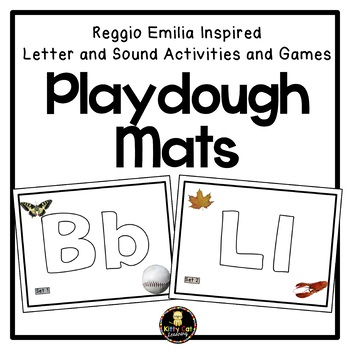 Reggio Emilia Inspired Letter and Sound Activities and Games - Playdough Mats