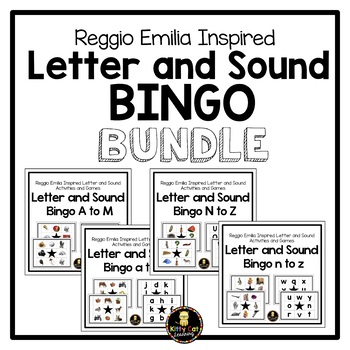 Reggio Emilia Inspired Letter and Sound Bingo BUNDLE!