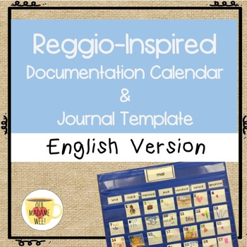 Reggio Inspired Calendar Cards And Journal Template English Version