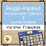 Reggio-Inspired Calendar Cards and Journal Template FRENCH
