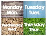 Reggio Inspired Days of the Week