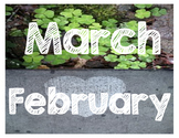Reggio Inspired Months of the Year