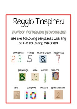 Reggio Inspired Number Formation Provocation