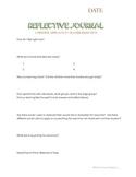 Reggio-Inspired Reflective Journal