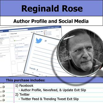 Reginald Rose - Author Study - Profile and Social Media