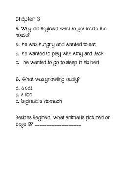 Reginald The Stinky Dog Comprehension Questions