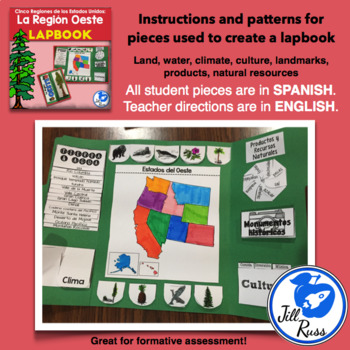 Región Oeste Lapbook Spanish West Region {Five Regions}