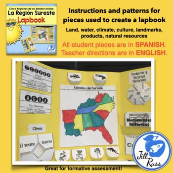 Región Sureste Colección Unit and Lapbook (Cinco Regiones)