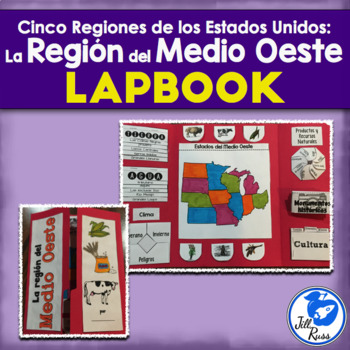 Región del Medio Oeste Lapbook Spanish Midwest Region {Five Regions}