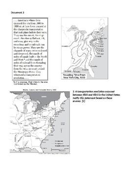 Regional Changes Transportation Revolution Erie Canal Inquiry DBQ