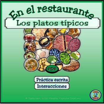 Regional Food and Meal Vocabulary / El vocabulario de la comida típica