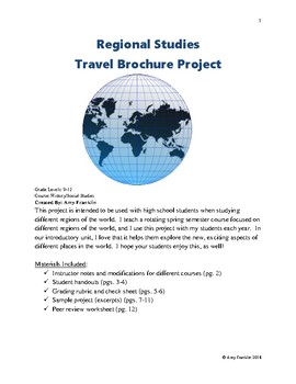 Regional Studies Travel Brochure Project
