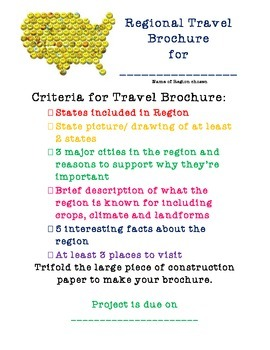 Regional Travel Brochure