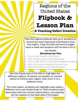 Regions Flipbook & Lesson Plans