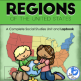 Regions Introduction Unit with Lapbook and Text