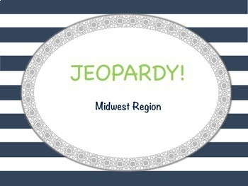 U.S. Regions Jeopardy Review Game BUNDLE!