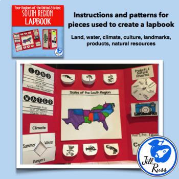 Regions Lapbook or Interactive Notebook Bundle {Four Regions}