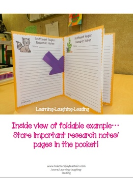 Regions Research Foldable