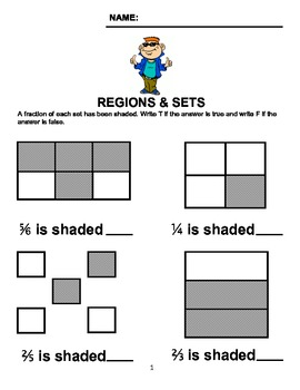 Regions & Sets - Regions & Sets Worksheet/Homework