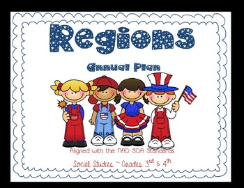 Regions ~ Social Studies Annual Plans for 3rd & 4th. Multigrade