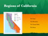 Regions of California PPT *EDITABLE*
