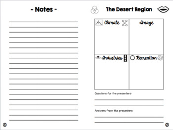 Regions of California - Student Booklet *editable*