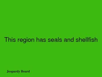 Regions of California Trivia Game