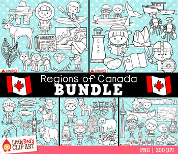 Regions of Canada Clip Art Bundle
