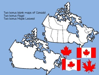 Physical Regions of Canada Clip Art Set - for Personal or Commercial Use