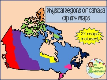 Physical Regions of Canada Clip Art Set - for Personal or