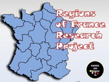 Regions of France Research Project/ Régions de la France
