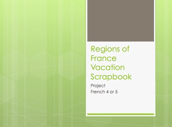 Regions of France Vacation Scrapbook Project