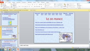 Regions of France Webquest