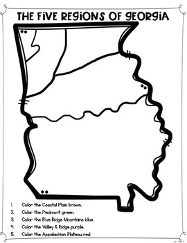 Regions Of Georgia Differentiated Reading Passages Amp Questions Tpt