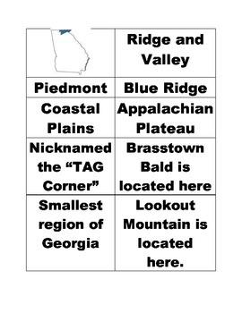 Regions of Georgia Flashcards