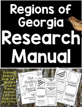 Regions of Georgia Research Manual- Georgia 3rd Grade Science