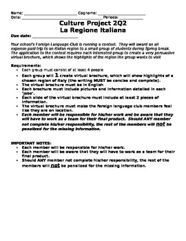 Regions of Italy project--Italiano