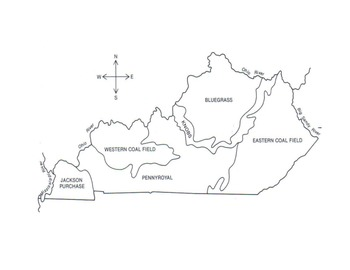 Regions of Kentucky Map (Labeled and Blank Maps)