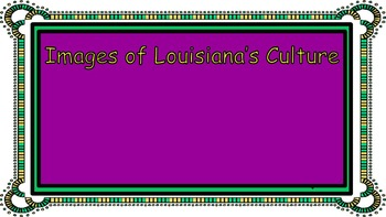 Regions of Louisiana Research Editable PowerPoint Template for Student Use