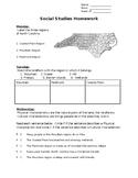 Regions of NC homework