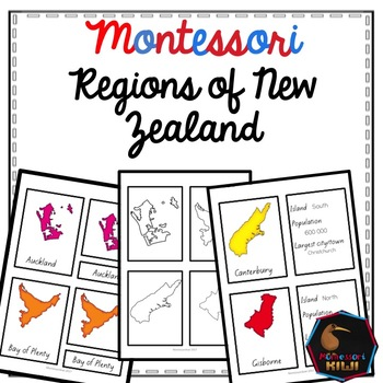 Regions of New Zealand Geography activities