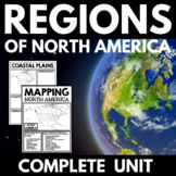 Regions of North America | Mapping Skills | Research Project | Geography